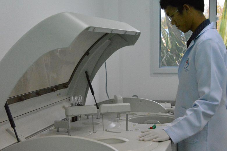 First Western Doctor Koh Phanagn Laboratory Tests